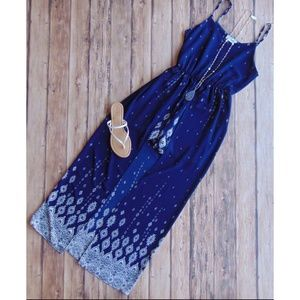 Ces Femme Blue Romper with a Train Size Small